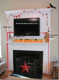 How to Hide TV Cords in Trim Work - Sawdust Girl